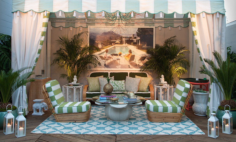tropical glamour found in mid century inspired cabana perspective